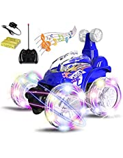 Magicwand® R/C Rechargeable 360 Degree Twisting Stunt Car with Music & Lights for Kids (Colors as Per Stock)