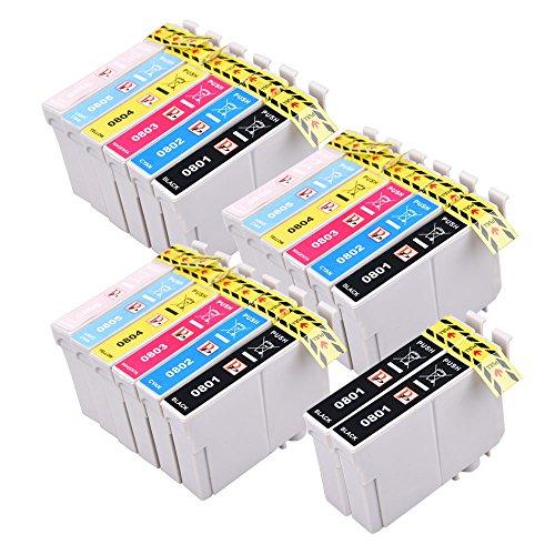 PerfectPrint Compatibile Inchiostro Cartuccia Sostituire Per Epson Stylus Photo P50 R265 R285 R360 RX560 RX585 RX685 PX650 PX660 PX700W PX710W PX720WD (Nero/Ciano/Magenta/Giallo, 20-Pack)