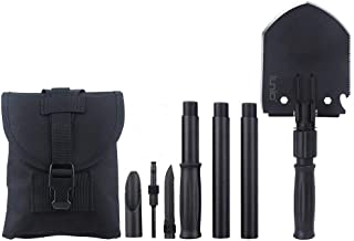 IUNIO Military Portable Folding Shovel and Pickax with Tactical Waist Pack Army Surplus Multitool for Camping Hiking Backpacking Fishing Trench Entrenching Tool Car Emergency