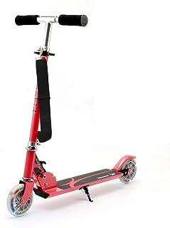 comprar comparacion HONKID Patinete Aluminio con 2 Ruedas - Scooter Patinete Plegable 85cm Altura Ajustable para niños de 3-12 años de Edad, Rosa