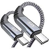 USB-C & USB C ケーブル【2M/2本セット】Sweguard USB Type C ケーブル【PD& QC3.0対応60W急速充電】 タイプc 充電ケーブル MacBook Pro/Air iPad Pro、Samsung Galaxy S21、Sony、Xiaomi,Huawei,Google Pixel その他Android各種、usb type c機器と互換性があり(グレー)