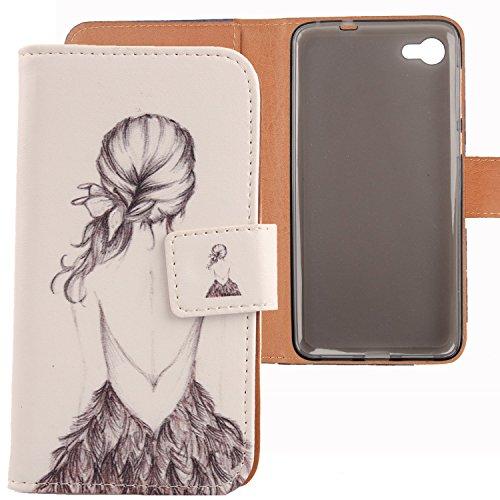 Lankashi PU Flip Leder Tasche Hülle Hülle Cover Schutz Handy Etui Skin Für Alcatel One Touch A5 LED OT-5085D 5085Y 5.2