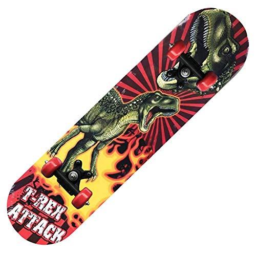IDE Play Osprey Kinder Skateboard, 24-Zoll-Doppel Kick-Skateboard für Anfänger mit Maple Deck, für Jungen und Mädchen, Multiple Designs,5