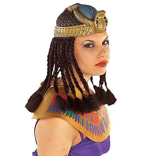NET TOYS Tocado de Cleopatra con Melena egipcia faraones Serpientes Peluca Egipto Antiguo Accesorios Disfraces