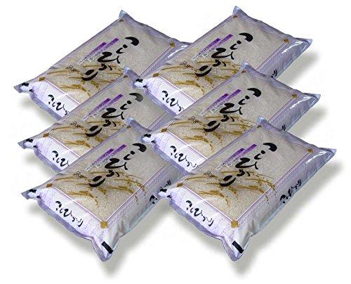 福島県会津産 無洗米 コシヒカリ 30kg(5kg×6袋) 令和元年産