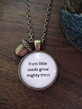 Huangwiglass from Little Seeds Necklace, Acorn Necklace, Mighty Oak Tree, Grow Mighty Trees, Nature Gift, Handmade, Gift for her, Christmas