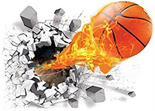 Demarkt 3D Basketball Wandtattoo Wandaufkleber Wandsticker Wanddeko Wandkunst selbstklebend Aufkleber