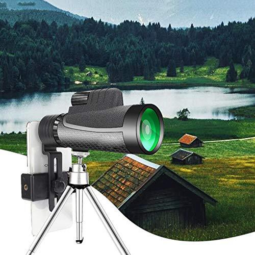 12x50 compact verrekijker high-powered telescoop met statief telefoon adapter clip voor op de camping wandelen vogels kijken,1pack