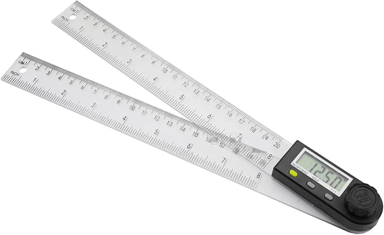 BUNANA 2 in 1 Digital Protractor 300mm New York Mall 50mm Stainles Ranking TOP6 200 Mm