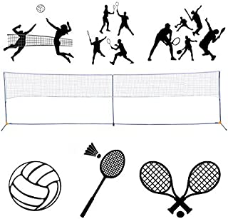 BenefitUSA Portable 3-in-1 Badminton/Volleyball/Tennis Training Net Set with Carrying Bag