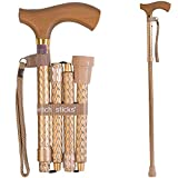 Switch Sticks Adjustable Folding Walking Cane and Walking Stick Collapses and Adjusts from 32 to 37 inches, Engraved Pearl Gold crutches Apr, 2021