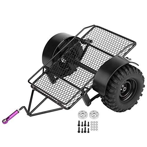 Dilwe RC Kippanhänger, Metall Kleiner Kippanhänger DIY Modifiziertes Anhängerzubehör mit Zwei 90mm Reifen
