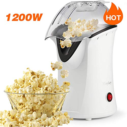 Why Choose Popcorn Popper Hot Air Popper 1200W Popcorn Maker No Oil For Healthy Snacks