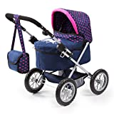 Bayer Design 13054Aa Trendy - Cochecito de Muñeca Combolsa, Ajustable, Color Azul/Rosa, 67 X 40 X 68 Cm