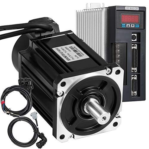 Bisujerro Motores Paso a Paso 2.4 NM Servomotor Motor Alto Torque 3000 PRM para control CNC 750W Conectores Electricos Fuente de Alimentación Fuente de Alimentación Modular Máquina Espuma