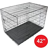 Gr8 Home Pet Cage Metal Dog Cat Puppy Training Folding Crate Vet Animal