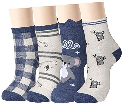 Women Girls Funny Novelty Koala Casual Socks Ankle Cozy Design Cotton Crew Socks -  xiaomaizi