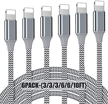 6-Pack Nuinno MFi Certified Lightning Cable
