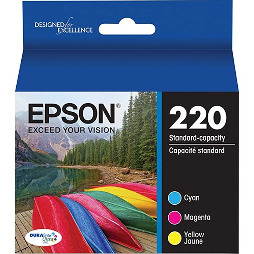 Genuine Epson 220 Color Cartridges Ink Genuine T220520 Cyan Magenta Yellow - Bulk