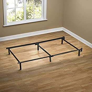 ZINUS Compack Metal Bed Frame / 7 Inch Support Bed Frame for Box Spring and Mattress Set Black Twin