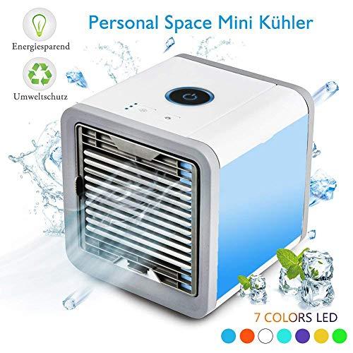 AA-SS-Desk Fan Condizionatore d'Aria, Dispositivo di Raffreddamento dell'Aria Umidificatore e purificatore dell'Aria Portatili Personali per la casa