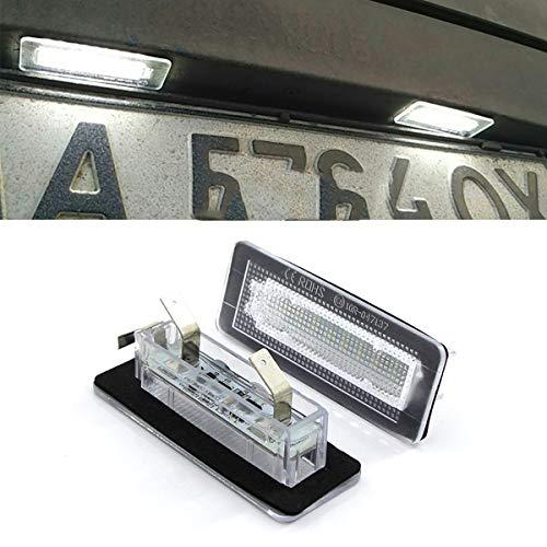 GOFORJUMP 2X Error Free 18SMD per B/Enz Smart fortwo LED Luce Targa automobilistica Numero di Targa Luce Targa Lampada Illuminazione Automatica