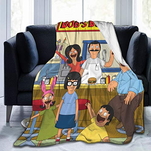 ROBETT Bob Burgers Fleece Throw Blanket Lightweight Ultra-Soft Bed Blanket Microfiber Perfect for Sofa Couch and Living Room for All Season 80'X60' Large