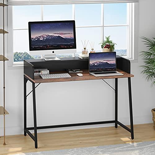 Tribesigns Escritorio de ordenador de 100 cm con soporte para monitor para espacio pequeño, mesa simple para casa, oficina, fácil de montar