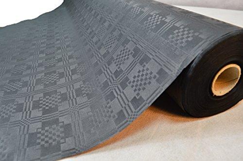 TOP Marques Collectibles 50 Meter Lang 100 cm Breit Farbe: Schwarz Tischdecke Papier Damastprägung Tischtuch Papierttischdecke Decke Rolle Papiertischdeckenrolle Papierdecke