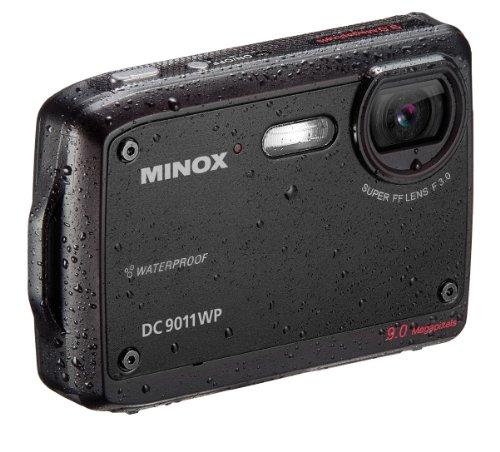 Minox DC 9011 WP Digitalkamera (9,0 Megapixel, 6-Fach digital, 2,5cm (6,4 Zoll) Display wasserdicht) schwarz