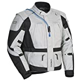Cortech Men's Sequoia XC Adventure Touring Motorcycle Jacket with Removable Sleeves and Waterproof Liner, White, XXX-Large