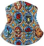WlQshop Calentadores de Cuello Beauty And Beast Fairytale Glass Neck...