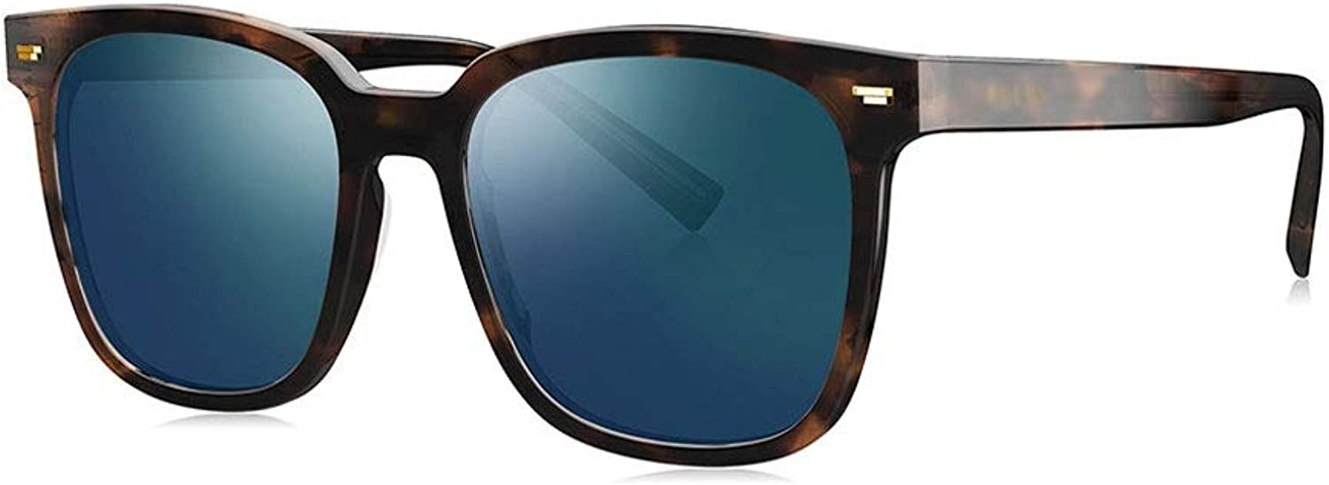 WLMJJ Sunglasses Men and Women with The Same Box Sunglasses Sunglasses Trend Sunglasses Polarized Light and Comfortable, Multicolor Options (color   B)