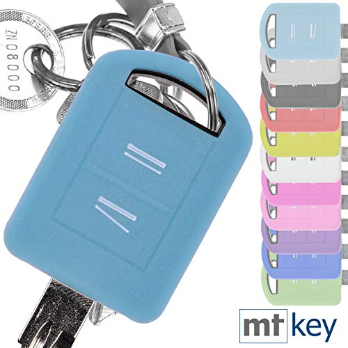 Soft Case Silikon Schutz Hülle Auto Schlüssel Fluoreszierend Blau kompatibel mit Opel Combo C Corsa C Meriva A Tigra TwinTop