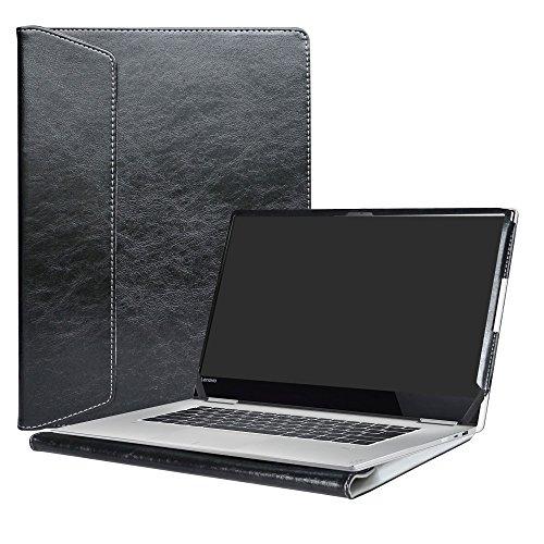 Alapmk Diseñado Especialmente La Funda Protectora de Cuero de PU Para 15.6' Lenovo Yoga 720 15 720-15IKB Ordenador portátil,Negro