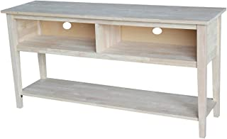 International Concepts Unfinished Entertainment/TV Stand, 60-Inch, Unfinished