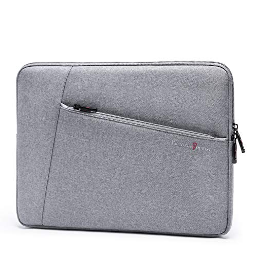 Laptop Sleeve Bag Compatible with 13-13.3 inch MacBook Pro, MacBook Air, Notebook Computer, 12.9 iPad Pro 3rd/4th Gen, Water Resistant Case with Accessory Pocket, Grey