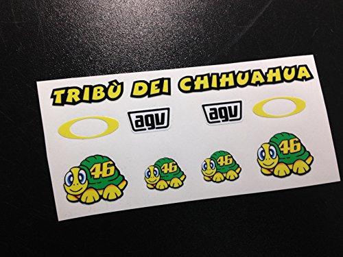Ecoshirt 9K-5WIT-CNR7 Pegatinas Casco Visera Helmet Visor Rossi Eco35 Stickers Aufkleber Moto GP Vinyls Adesivi Decals