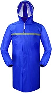 YQRYP Long Section Raincoat Waterproof Male and Female Adult Hiking Single Siamese Outdoor Thickening Windbreaker Poncho Poncho,Split Raincoat (Color : Blue, Size : XXL)