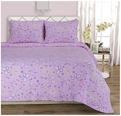 Home City, Bed Linnenset, Roze/wit - Lange Eenpersoons/Ikea Single