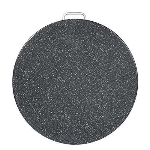 Tablas de cortar Tabla Corte Plástico Redonda Tamaño Grande 38 Cm / 15 Pulgadas, Negro Gruesas Flexibles para Encimera De Cocina, con Apto para Lavavajillas