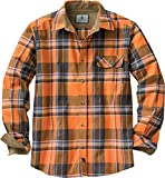 Legendary Whitetails Men's Standard Buck Camp Flannel Shirt, Canyon Plaid, Small
