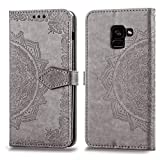 Cmeka Mandala Wallet Case for Samsung Galaxy A8 Plus 2018,Slim 3D...