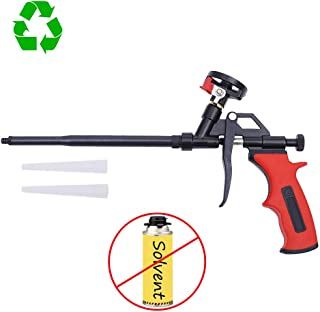 DAFEIKE Foam Insulation Gun Needn't Cleaner, Updated Teflon Pro Foam Dispensing Gun, Expandable Pu Foaming Applicator, Spray Tool for Caulking, Sealing and Filling
