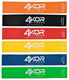 4 KOR Fitness Set of 6 Resistance Loop Bands (12 x 2-Inch) with Carrying Case