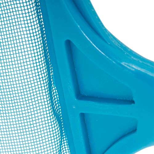 U.S. Pool Supply Swimming Pool 4 Foot Leaf Skimmer Net with 4 Connecting Aluminum Pole Sections - Fine Mesh Netting for Fast Cleaning of Debris - Clean Spas