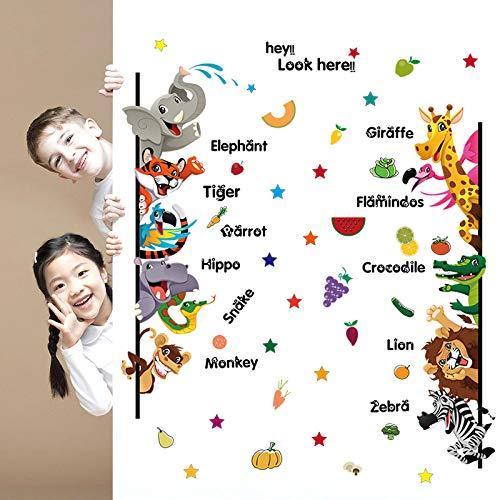 Muursticker, alle soorten dieren muurschildering afneembare stickers geschikt voor slaapkamer woonkamer kinderkamer doe-het-zelf huishoudtextiel