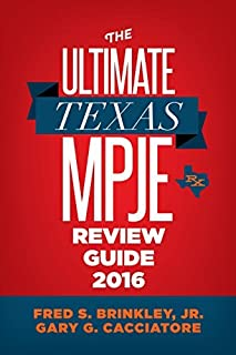 The Ultimate Texas MPJE Review Guide 2016