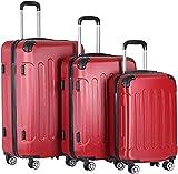 El juego de maletas está fabricado en ABS rígido, 4 ruedas giratorias, asa telescópica, la maleta viaja...