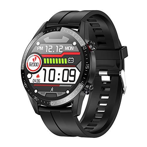 IP68 wasserdichte Aktivitäts-Tracker, Blutdruck-Sportuhr, Herzfrequenz-Smartwatch, Übungsarmbänder (Silikon/Schwarz)